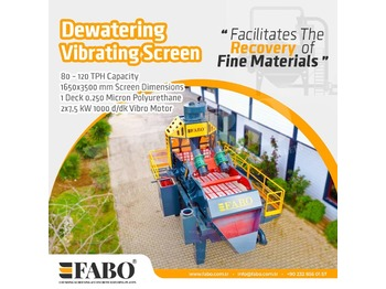 FABO PREMIUM QUALITY DEWATERING SCREEN WITH PU MESH - drupinātājs