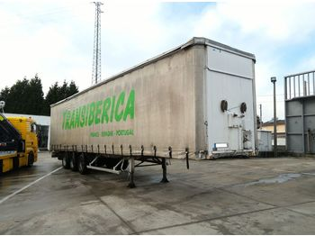 Puspiekabe tenta FRUEHAUF full steel frame tri axle 34 ton with lifting roof